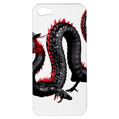 Dragon Black Red China Asian 3d Apple iPhone 5 Hardshell Case