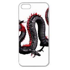 Dragon Black Red China Asian 3d Apple Seamless iPhone 5 Case (Clear)
