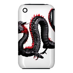 Dragon Black Red China Asian 3d Iphone 3s/3gs