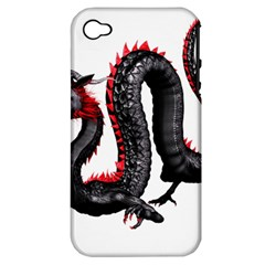 Dragon Black Red China Asian 3d Apple Iphone 4/4s Hardshell Case (pc+silicone)