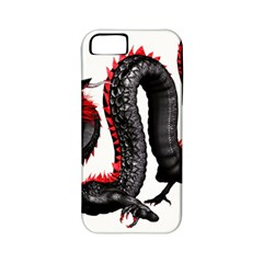 Dragon Black Red China Asian 3d Apple iPhone 5 Classic Hardshell Case (PC+Silicone)