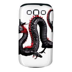 Dragon Black Red China Asian 3d Samsung Galaxy S III Classic Hardshell Case (PC+Silicone)