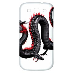 Dragon Black Red China Asian 3d Samsung Galaxy S3 S Iii Classic Hardshell Back Case