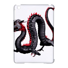 Dragon Black Red China Asian 3d Apple Ipad Mini Hardshell Case (compatible With Smart Cover)