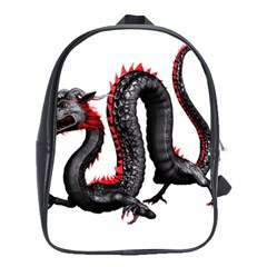 Dragon Black Red China Asian 3d School Bags (XL)