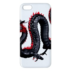 Dragon Black Red China Asian 3d Apple Iphone 5 Premium Hardshell Case