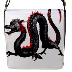 Dragon Black Red China Asian 3d Flap Messenger Bag (s)