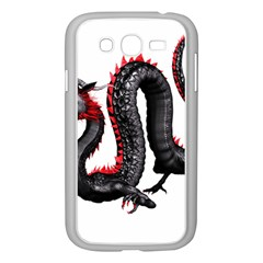 Dragon Black Red China Asian 3d Samsung Galaxy Grand Duos I9082 Case (white)