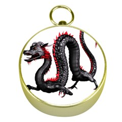 Dragon Black Red China Asian 3d Gold Compasses