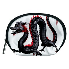 Dragon Black Red China Asian 3d Accessory Pouches (medium)