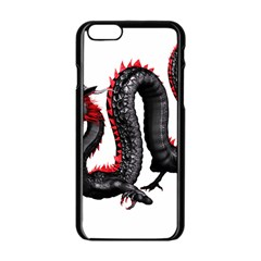 Dragon Black Red China Asian 3d Apple Iphone 6/6s Black Enamel Case