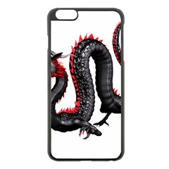 Dragon Black Red China Asian 3d Apple Iphone 6 Plus/6s Plus Black Enamel Case