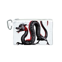 Dragon Black Red China Asian 3d Canvas Cosmetic Bag (s)