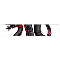 Dragon Black Red China Asian 3d Flano Scarf (small)