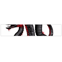Dragon Black Red China Asian 3d Flano Scarf (Large)