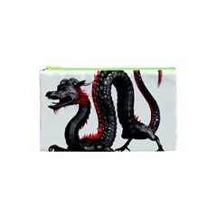 Dragon Black Red China Asian 3d Cosmetic Bag (xs)