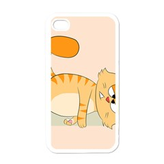 Even Cat Hates Monday Apple Iphone 4 Case (white)