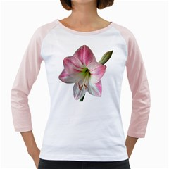 Flower Blossom Bloom Amaryllis Girly Raglans