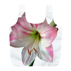 Flower Blossom Bloom Amaryllis Full Print Recycle Bags (l)