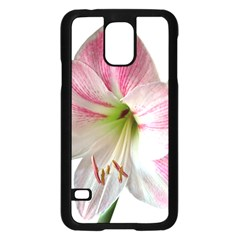 Flower Blossom Bloom Amaryllis Samsung Galaxy S5 Case (black)