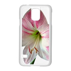Flower Blossom Bloom Amaryllis Samsung Galaxy S5 Case (white)