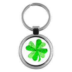 St Patricks Day Shamrock Green Key Chains (round)
