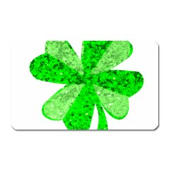 St Patricks Day Shamrock Green Magnet (rectangular)