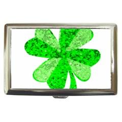 St Patricks Day Shamrock Green Cigarette Money Cases