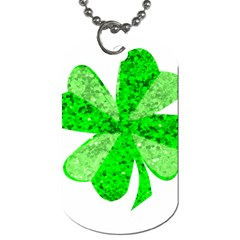 St Patricks Day Shamrock Green Dog Tag (two Sides)