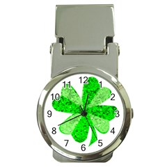 St Patricks Day Shamrock Green Money Clip Watches