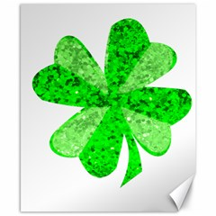 St Patricks Day Shamrock Green Canvas 8  x 10