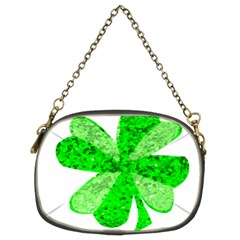 St Patricks Day Shamrock Green Chain Purses (two Sides)
