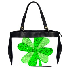 St Patricks Day Shamrock Green Office Handbags (2 Sides)