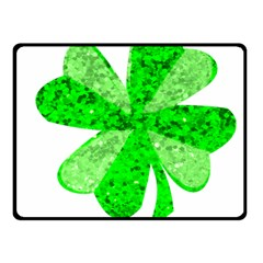 St Patricks Day Shamrock Green Fleece Blanket (small)