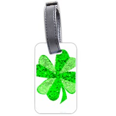 St Patricks Day Shamrock Green Luggage Tags (One Side)