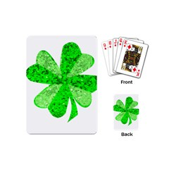 St Patricks Day Shamrock Green Playing Cards (mini)