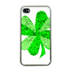 St Patricks Day Shamrock Green Apple Iphone 4 Case (clear)