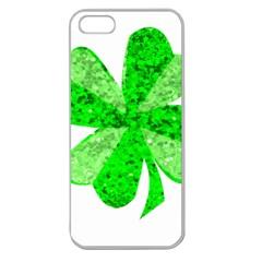 St Patricks Day Shamrock Green Apple Seamless Iphone 5 Case (clear)