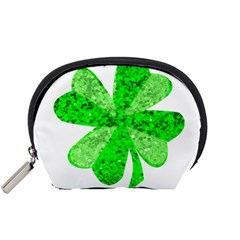St Patricks Day Shamrock Green Accessory Pouches (small)
