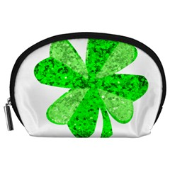 St Patricks Day Shamrock Green Accessory Pouches (Large)