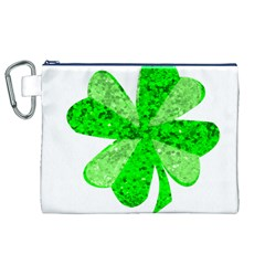 St Patricks Day Shamrock Green Canvas Cosmetic Bag (xl)