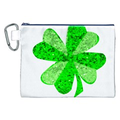 St Patricks Day Shamrock Green Canvas Cosmetic Bag (xxl)