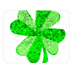 St Patricks Day Shamrock Green Double Sided Flano Blanket (large)