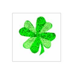 St Patricks Day Shamrock Green Satin Bandana Scarf