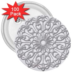 Scrapbook Side Lace Tag Element 3  Buttons (100 Pack)