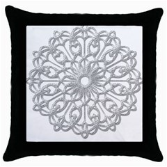 Scrapbook Side Lace Tag Element Throw Pillow Case (Black)