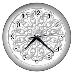 Scrapbook Side Lace Tag Element Wall Clocks (Silver)