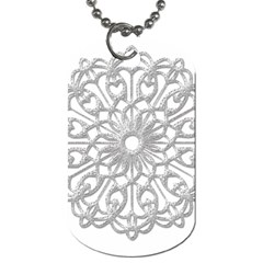Scrapbook Side Lace Tag Element Dog Tag (One Side)