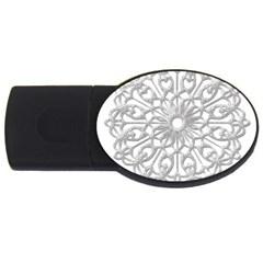 Scrapbook Side Lace Tag Element Usb Flash Drive Oval (2 Gb)