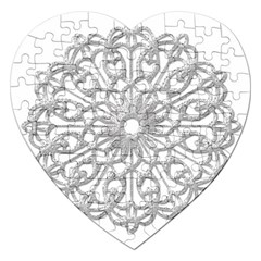 Scrapbook Side Lace Tag Element Jigsaw Puzzle (Heart)